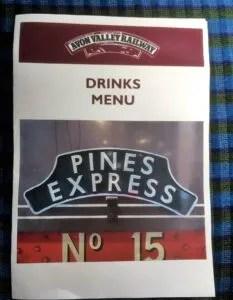 Pines Express Drinks Menu