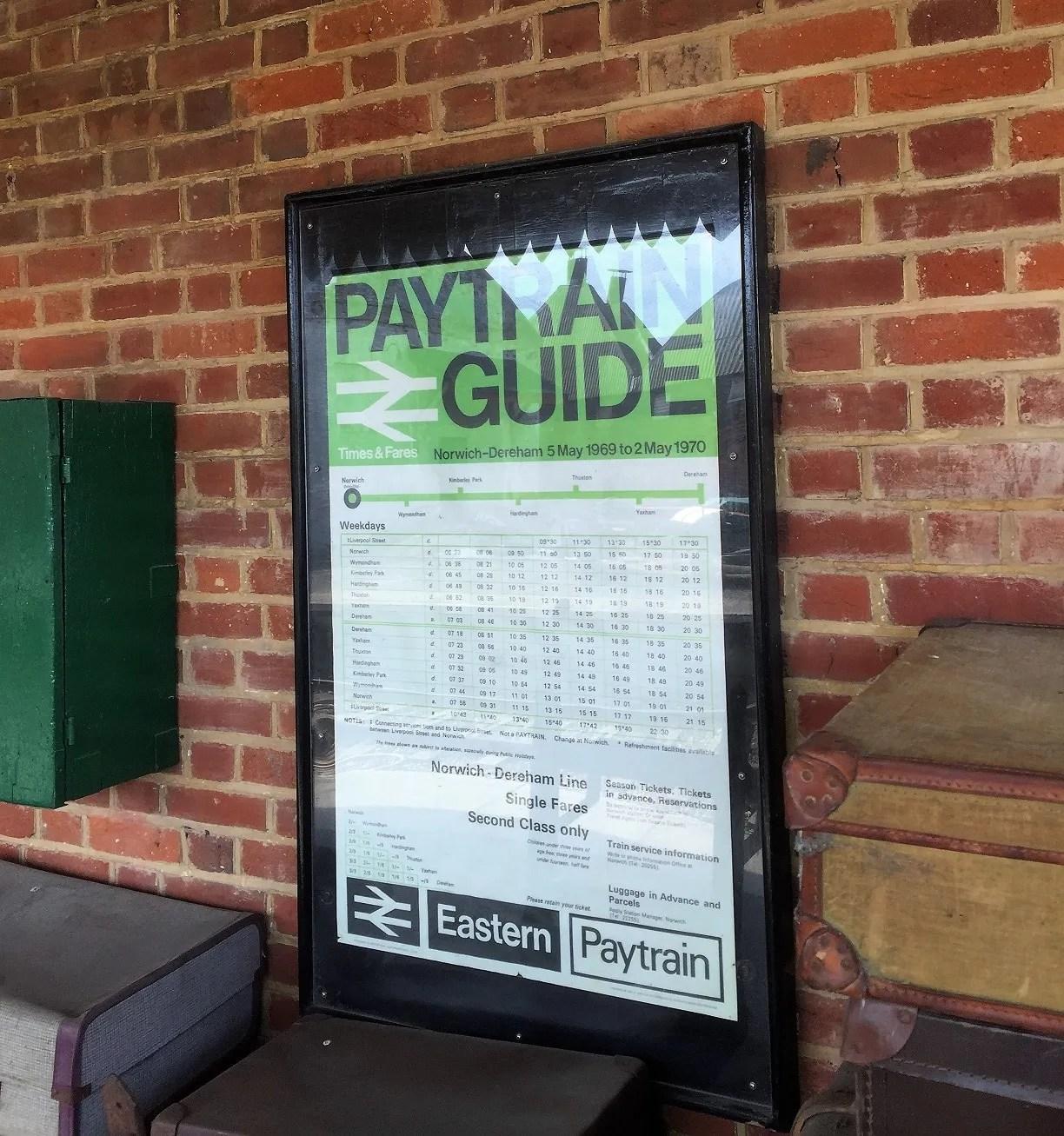 British Railways poster for PayTrain fares.