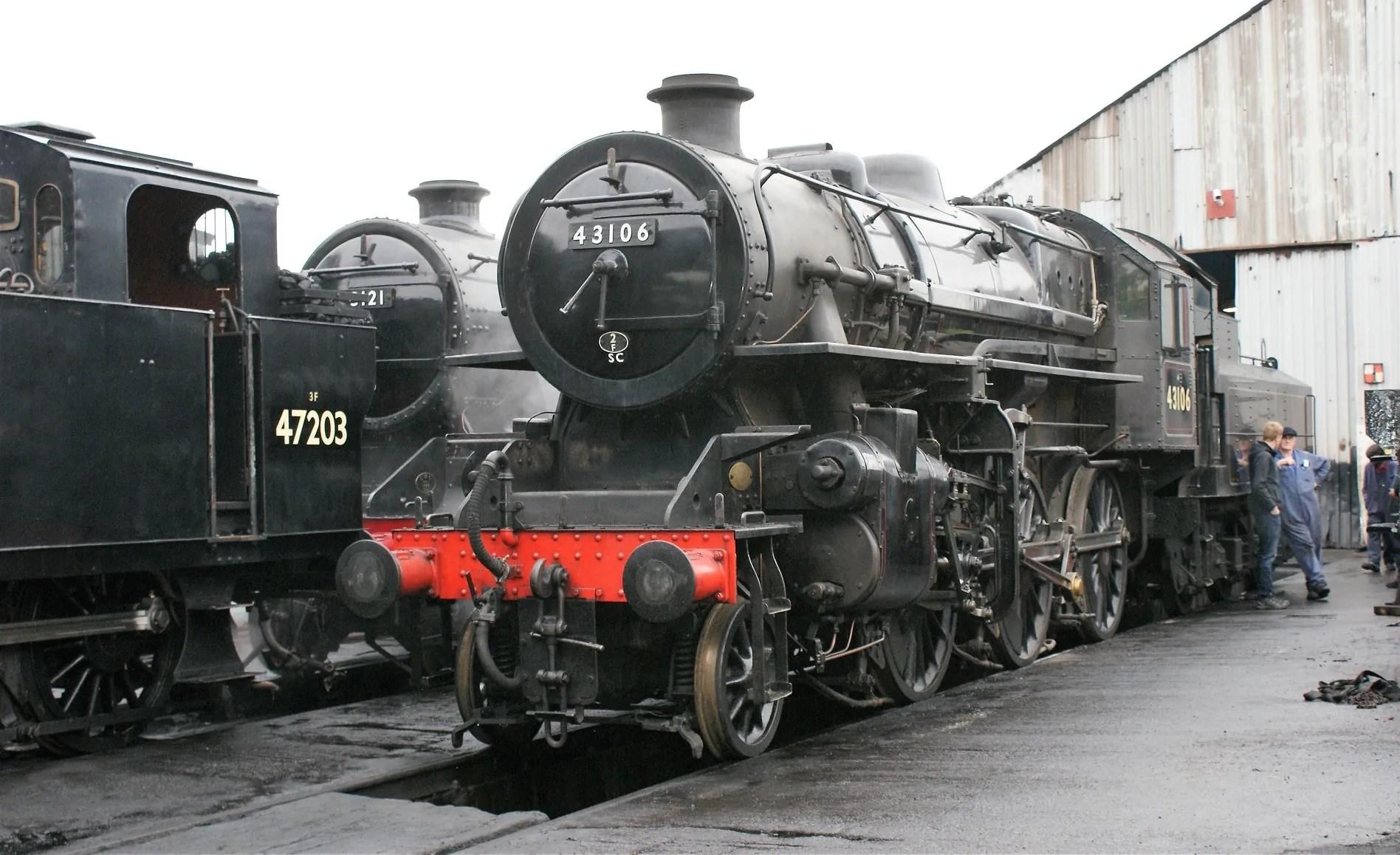 43106 - LMS Ivatt Class 4 - great central railway - railcard
