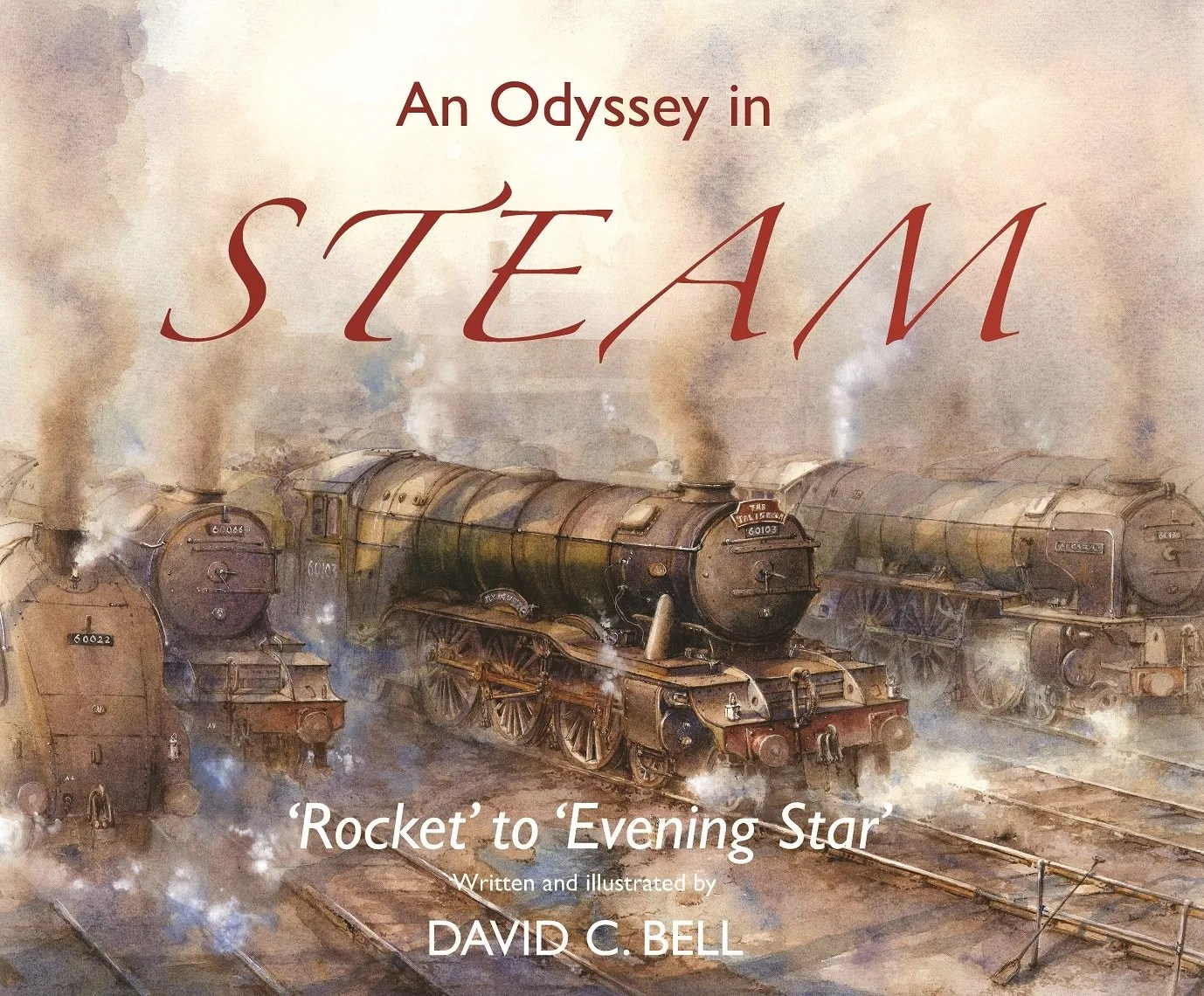 Odyssey in Steam Book - railway paintings