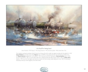 On Track for Ninety Years painting from Odyssey in Steam railway book
