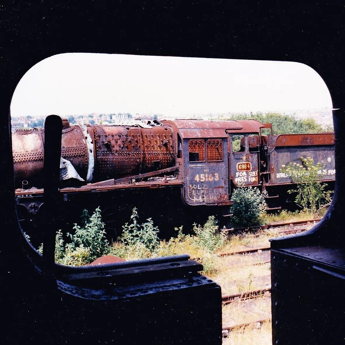Stanier Black Five locomotive 45163 at Barry Scrapyard