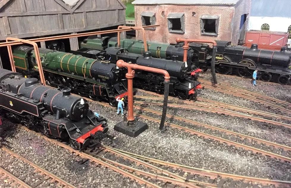 Model railway 00 gauge - Locos awaiting next turn of duty