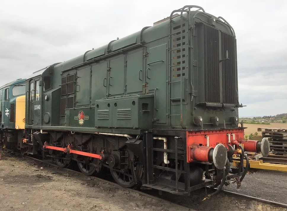 Class 08 shunter D3940 (08772) in the yard at Weybourne