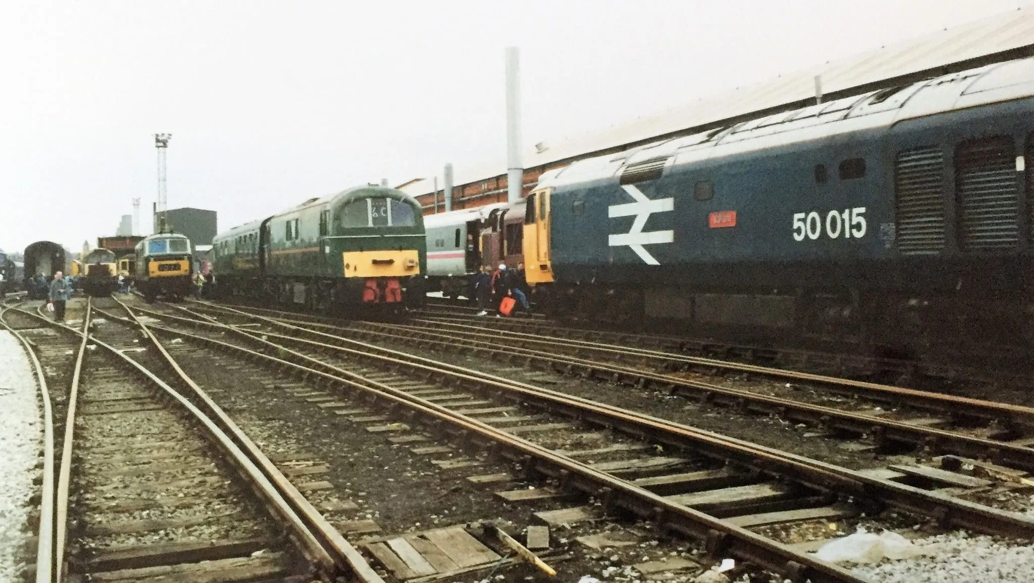 Crewe works memories - locomotives outside the traction shop
