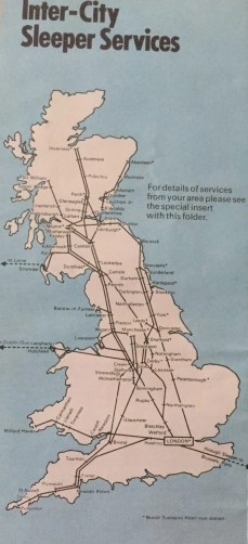 Sleeper train routes in 1970s