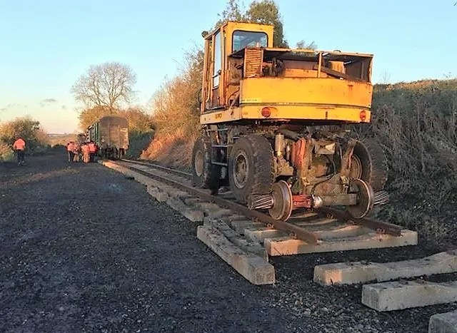 p-Way on track plant - Somerset and Dorset Railway