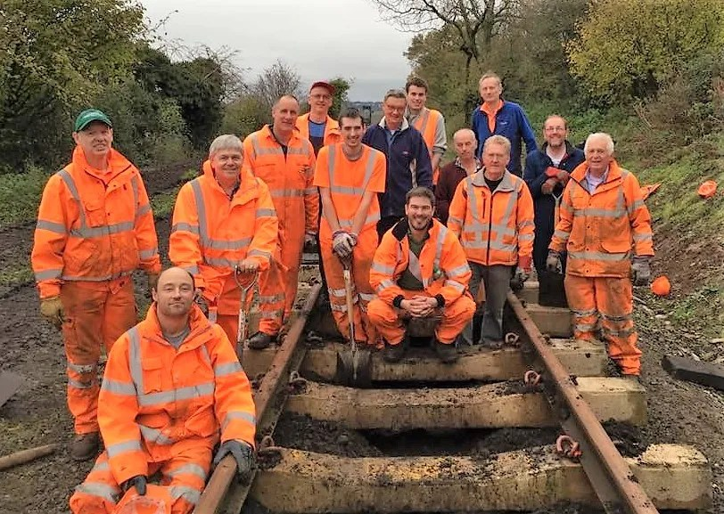 P-Way gang on the Somerset and Dorset railway