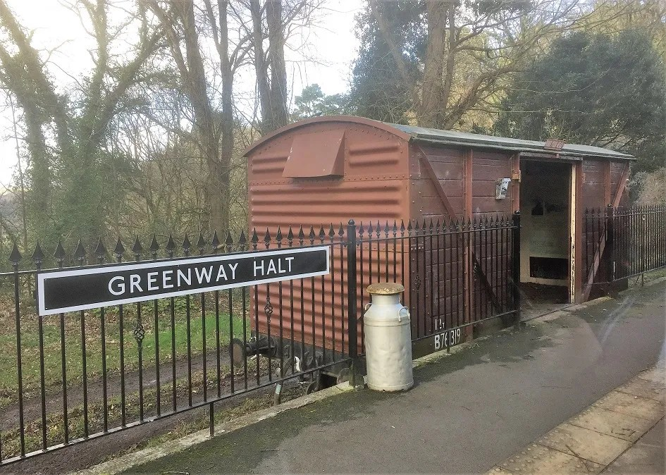 Greenway Halt on the Dartmouth Steam Railway