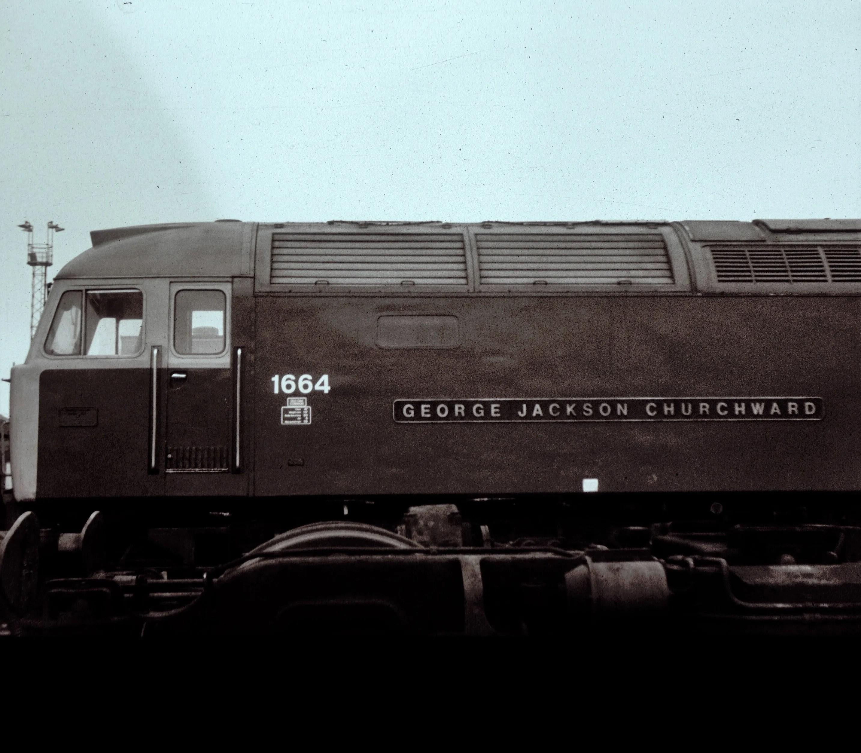Class 47 locomotive at Crewe Works
