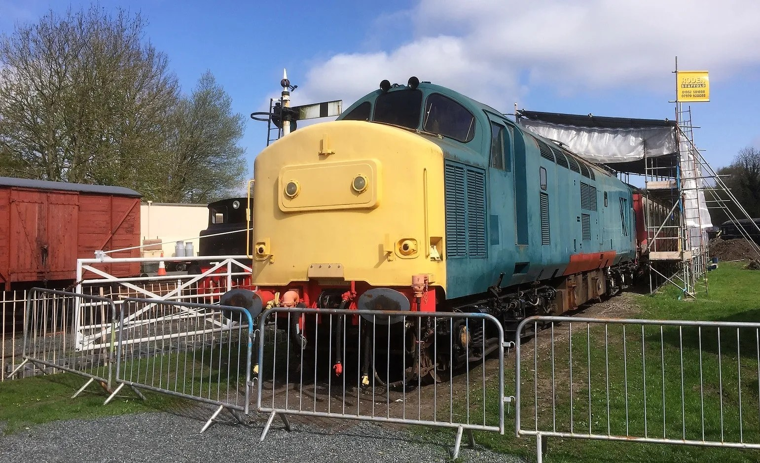Class 37 number 37263 ex D6963 at Horsehay on the Telford Steam Railway