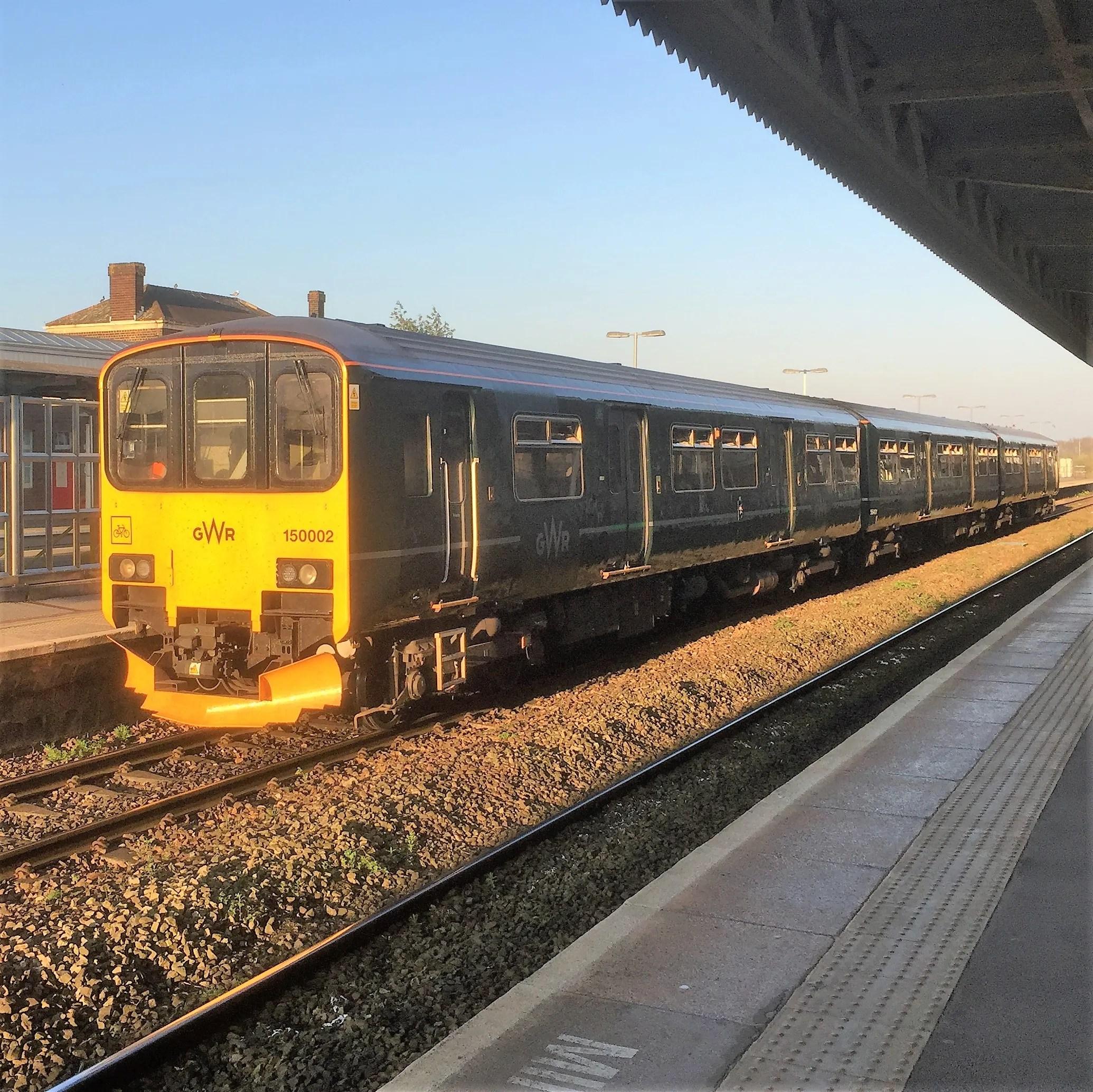 Class 150 prototype 150002 at Taunton railway station