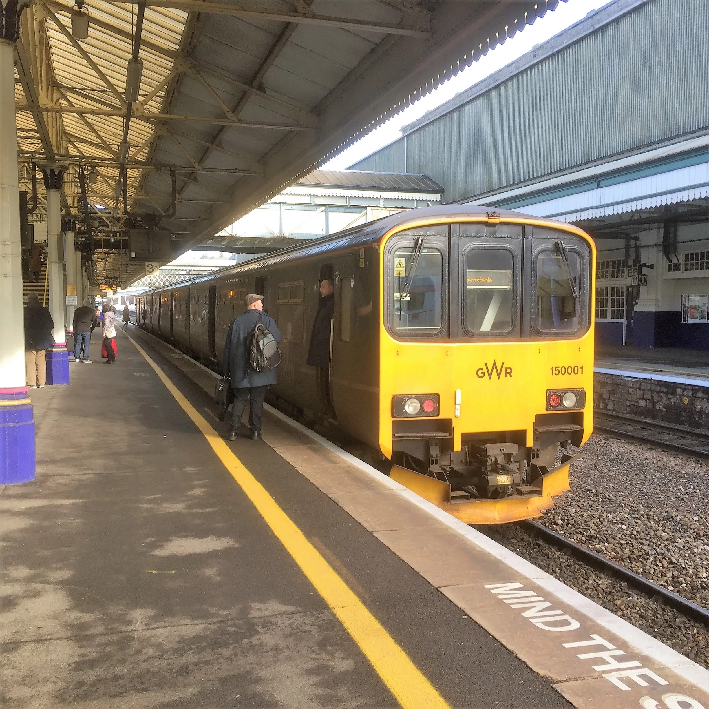 Class 150 150001 at Exeter St Davids railway station