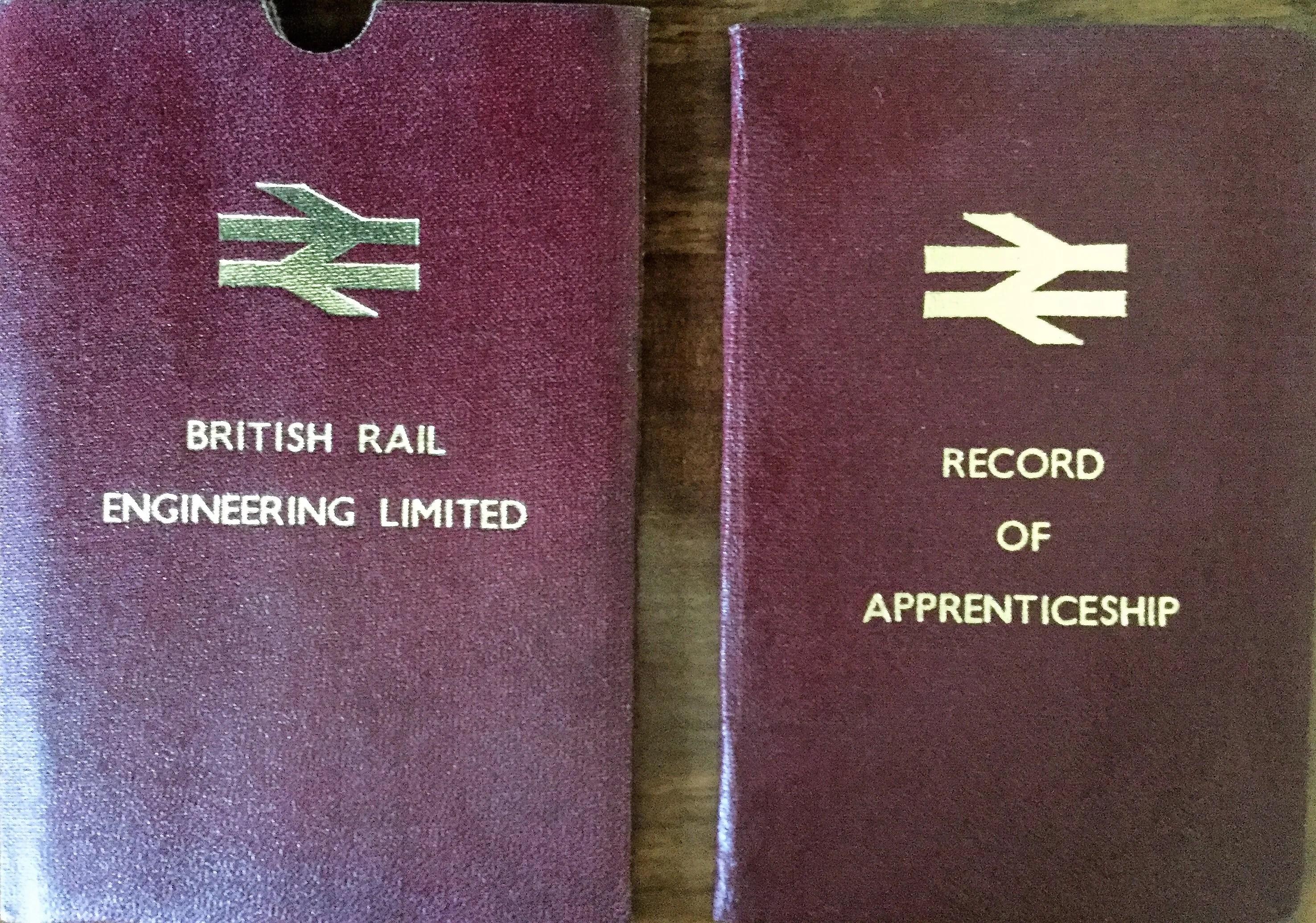 British Railways record of apprenticeship log book