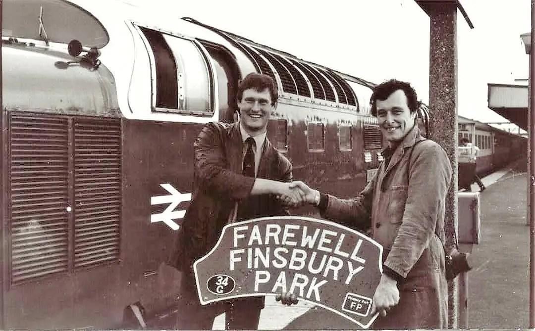Locomotive head board Farewell Finsbury Park depot