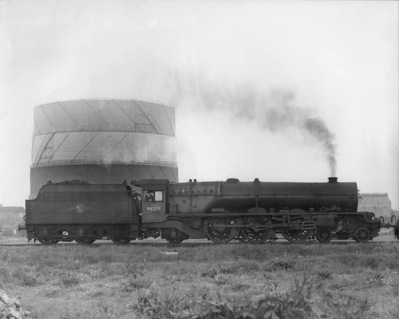 steam locomotive Princess Royal 46209 at Wigan - childhood railway memories