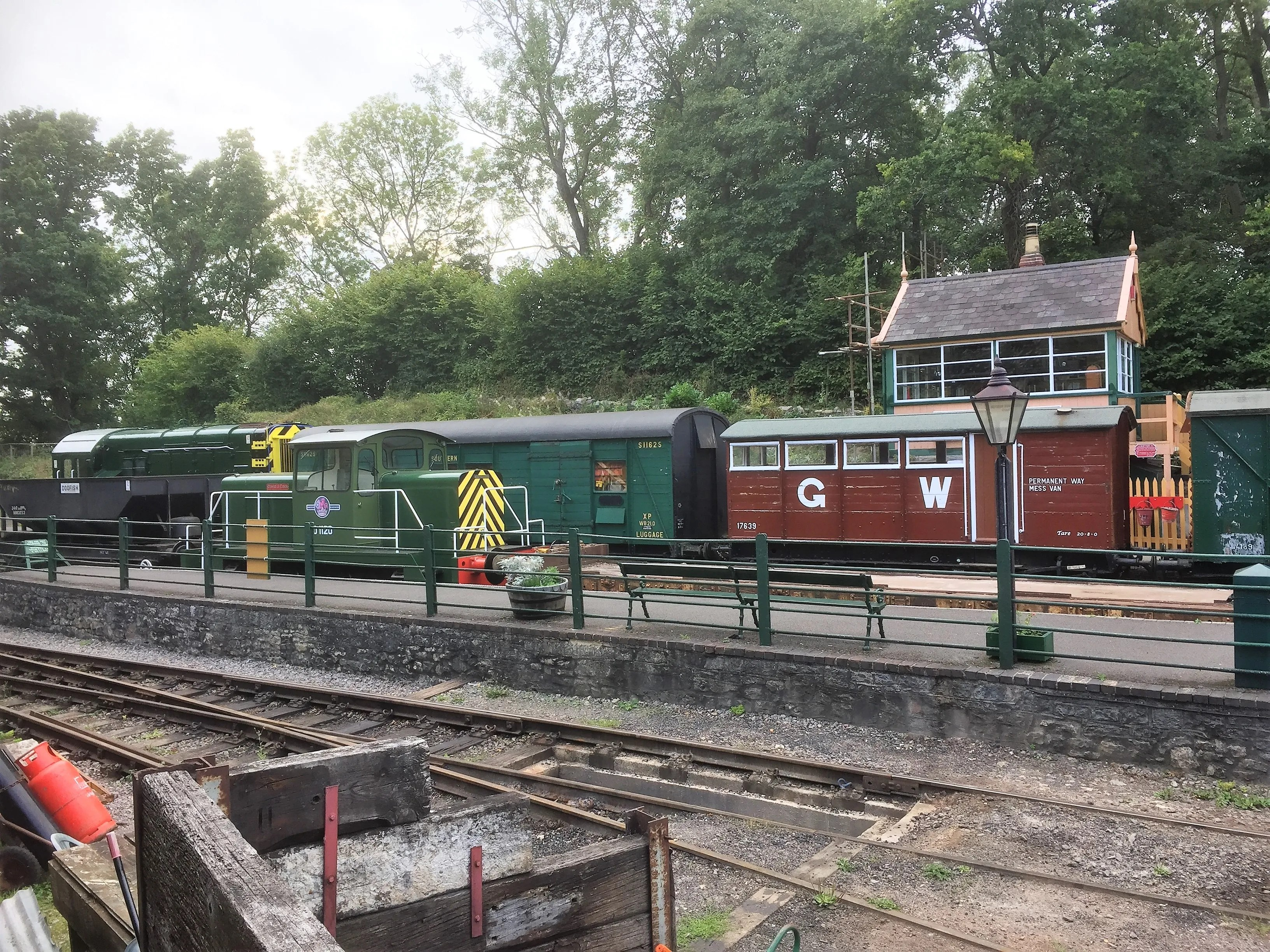 Somerset and Dorset Railway Midsomer Norton English Electric shunter
