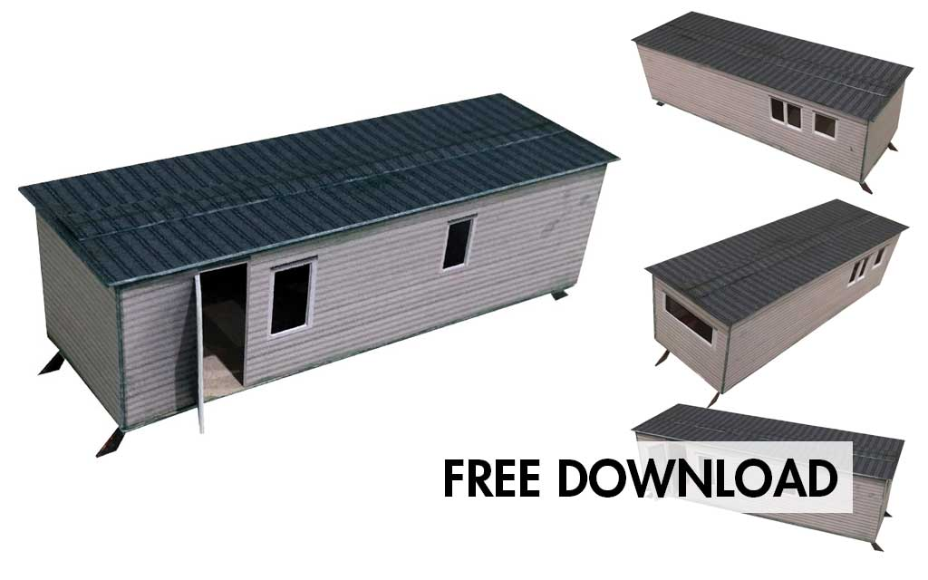 FREE DOWNLOAD – Static Caravan 001 – OO Gauge
