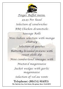 £9.95 Finger Buffet