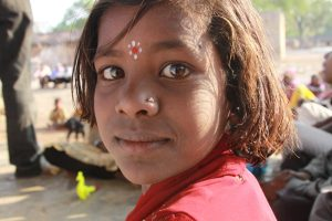little girl indian