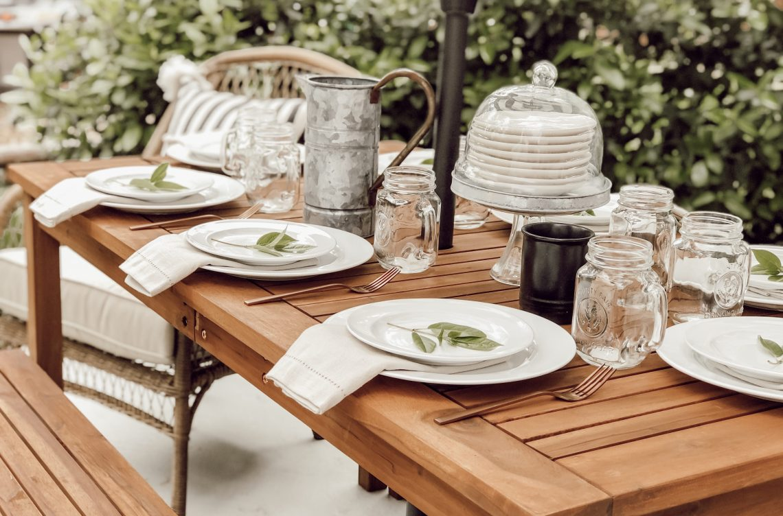 Brilliant A Country Farmhouse Outdoor Tablescape With Walmart Com Home Interior And Landscaping Palasignezvosmurscom