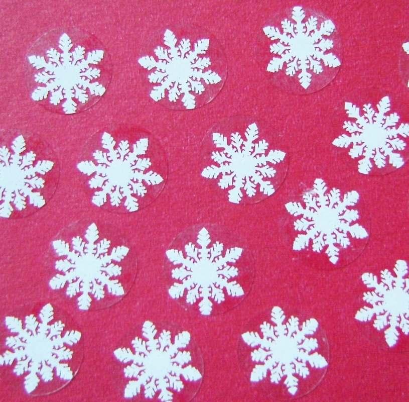 Mini Snowflake Stickers Seasonal Craft Supplies