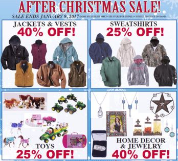 After Christmas Sale until January 9, 2017