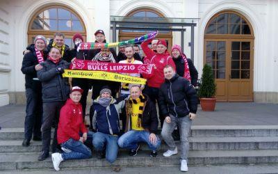 Die Rainbow-Borussen zu Besuch in Leipzig