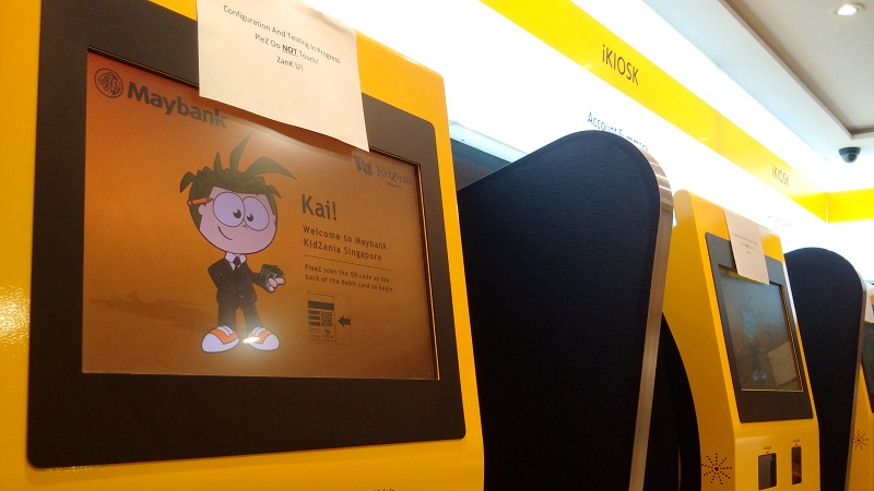 KidZania SG - iKiosks at the Maybank establishment.