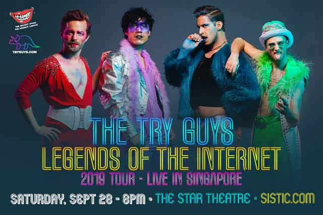 THE TRY GUYS 'LEGENDS OF THE INTERNET' Tour live in Singapore
