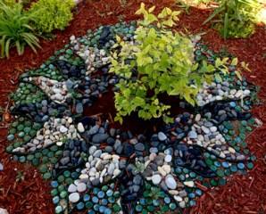 Rock Mandala in my Healing Garden