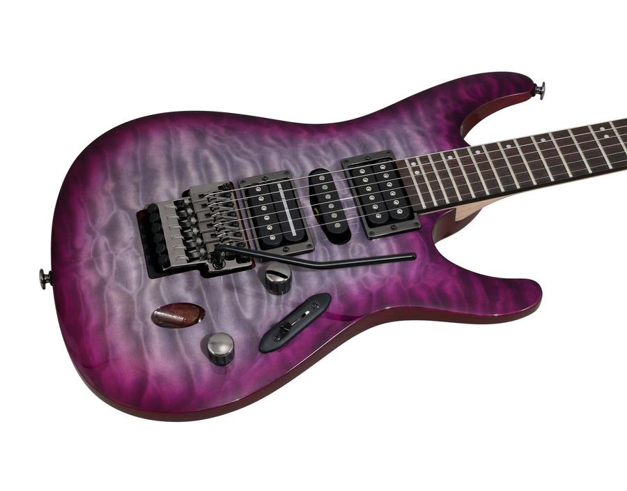 Ibanez Prestige S Q Dark Purple Doom Burst
