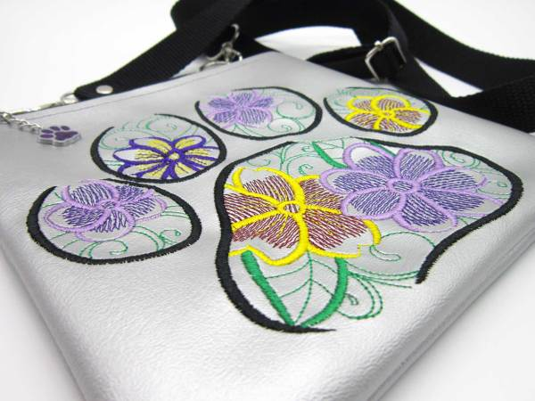 Flower Paw Cross body Bag Flat