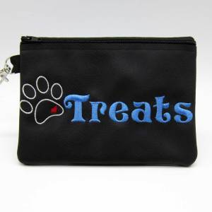 Heart Paw Treat Zipper Bag