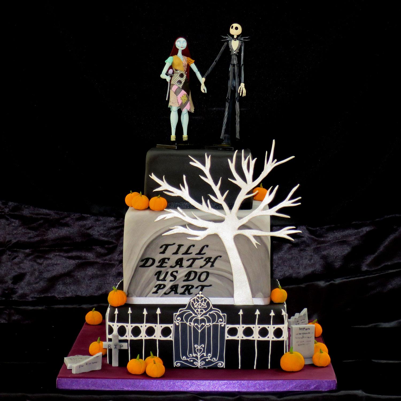 Nightmare Before Christmas Wedding Cake Nightmare Before