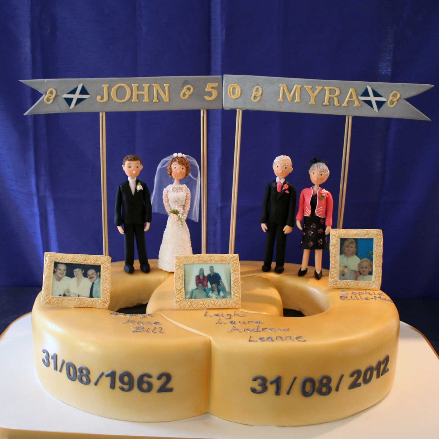 Golden Wedding Anniversary Cake Golden Wedding Anniversary
