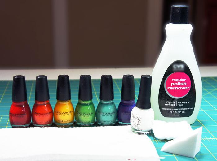 materials-for-rainbow-nail-art