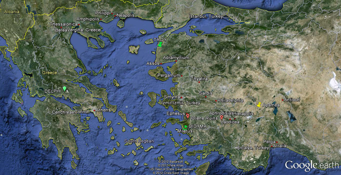 Map Of Philippi And Corinth Greece