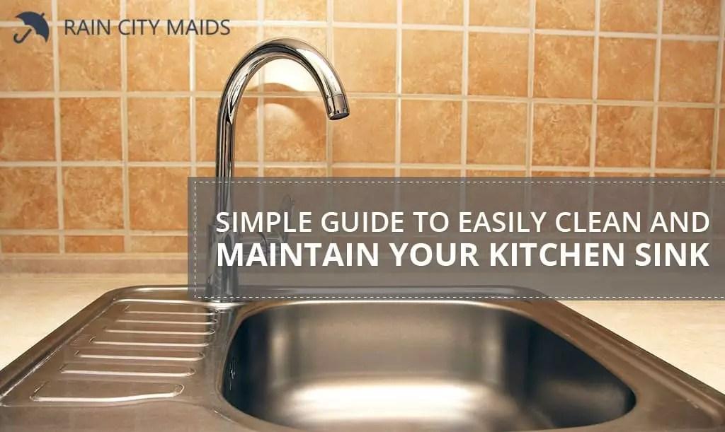 maintain your kitchen sink