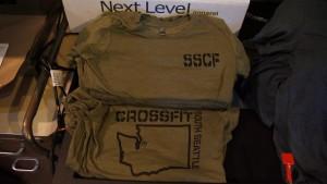 Washington state design screen printed on Next Level t-shirts.