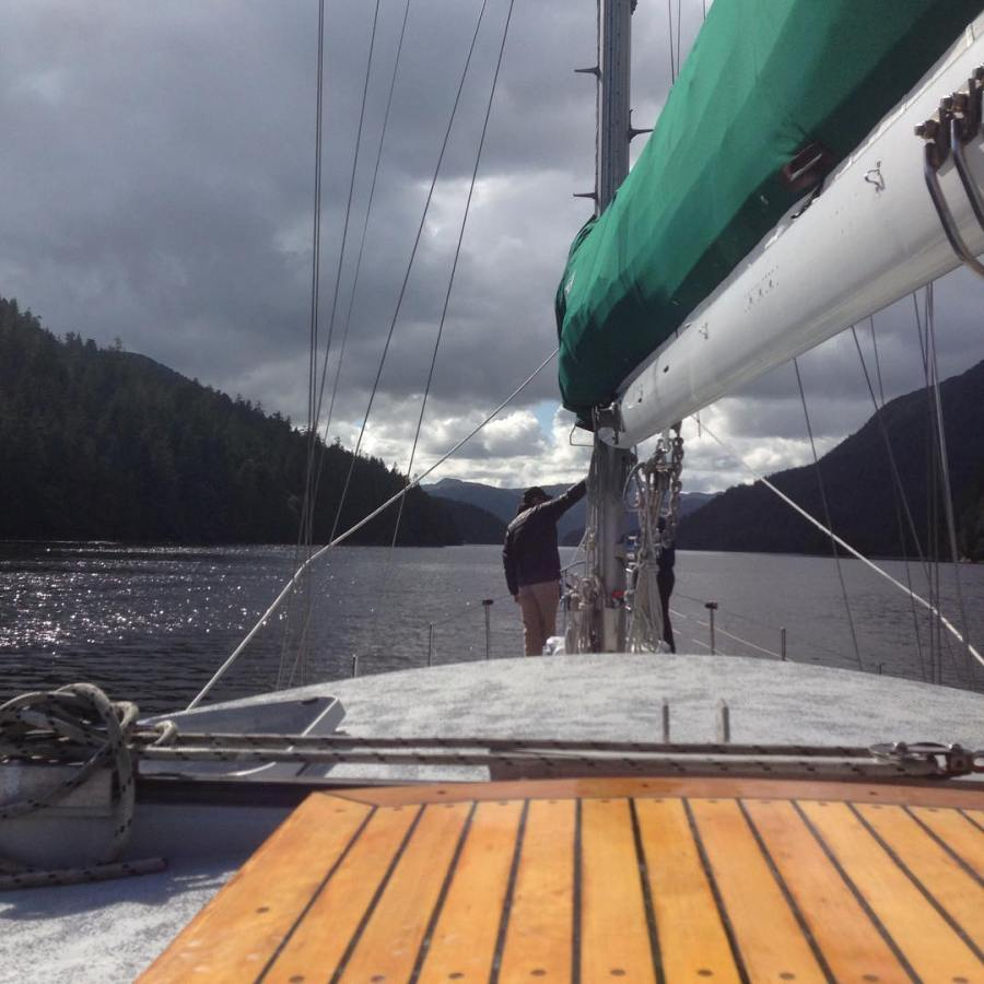 Chris Darimont, Raincoast director on boat Achiever