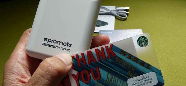 PROMATE Card-10 | The World's Smallest Fast-Charging Power Bank