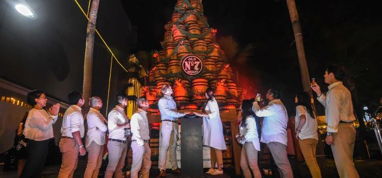 Jack Daniel's Lights Up its Iconic Holiday Barrel Tree in BGC