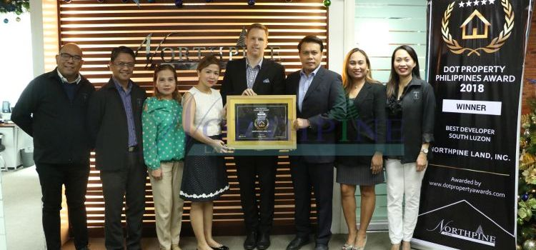 NorthPine Land Awarded Best Developer in South Luzon