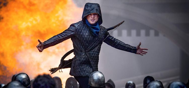 Taron Egerton Takes on the Legendary English Bow and Arrow in Robin Hood – Now Showing!