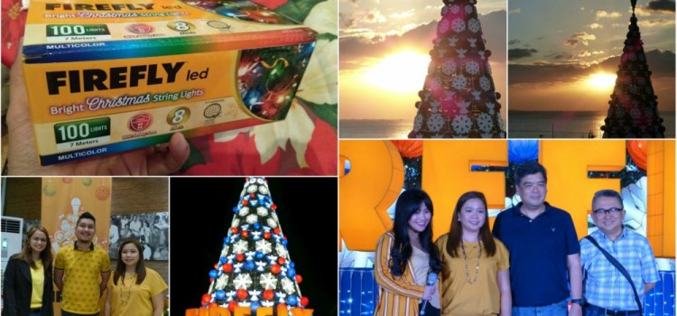 71-Foot Giant Christmas Tree Illuminates SM By The Bay at Night with Firefly LED Lights