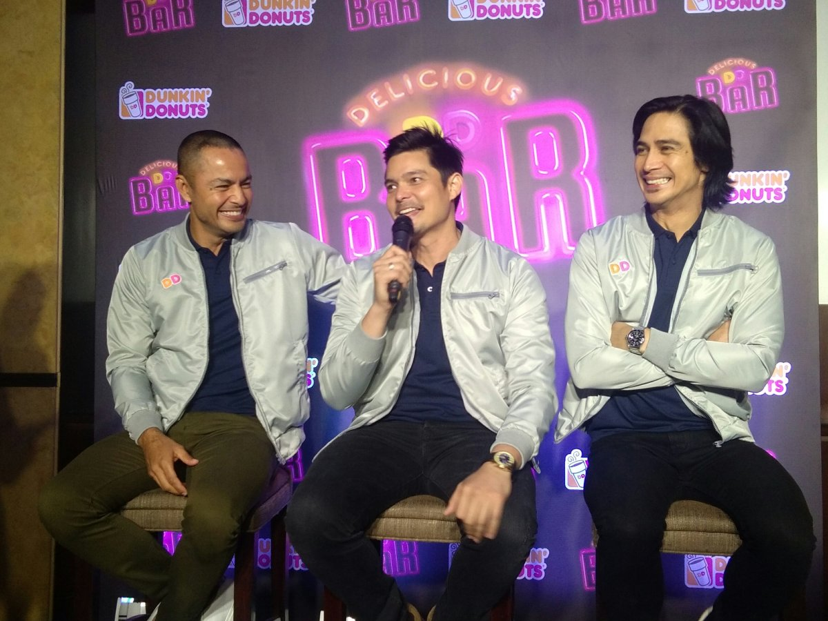 Derek Ramsay, Piolo Pascual and Dingdong Dantes Launches The Dunkin Donuts Delicious DD Bar
