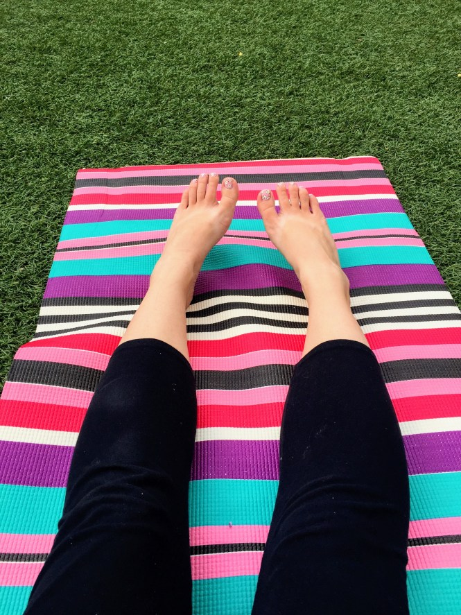 Yoga on the Square at Colony Square Midtown | Raine In The City