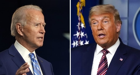 Combo Biden Trump (ap)