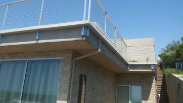 custom box gutter around balcony railing - Rancho Palos Verdes 90274